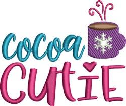 Cocoa Cutie embroidery design