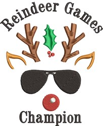 Reindeer Games Champion embroidery design