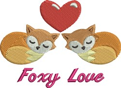 Foxy Love embroidery design