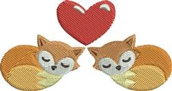 Foxy Love embroidery design