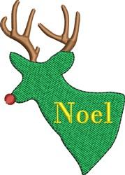 Reindeer Noel embroidery design