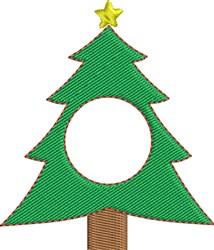 Tree Monogram Frame embroidery design