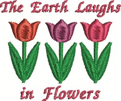 Flowers Laugh embroidery design