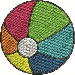Beachball embroidery design