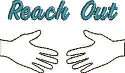 Reach Out embroidery design