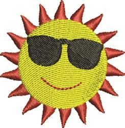 Beach Sun embroidery design