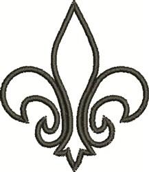Fleur De Lis Outline embroidery design