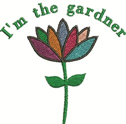 The Gardner embroidery design