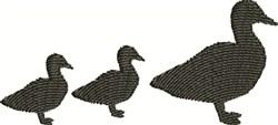 Ducks Silhouette embroidery design