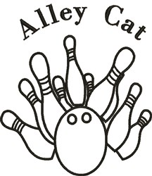Alley Cat embroidery design