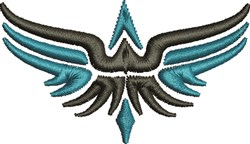 Abstract Eagle embroidery design