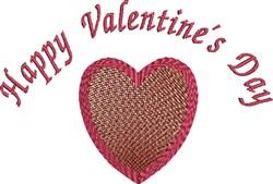 Happy Valentine embroidery design