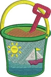 Beach Pail embroidery design