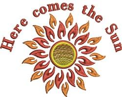 Here Comes Sun embroidery design
