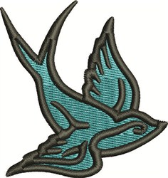 Bluebird embroidery design