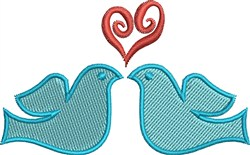 Heart Doves embroidery design