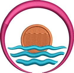 Nautical Scene embroidery design