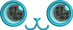 Cat Eyes embroidery design