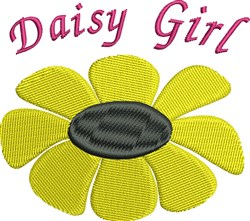 Daisy Girl embroidery design