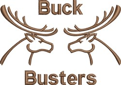 Buck Busters embroidery design