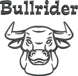 Bullrider embroidery design
