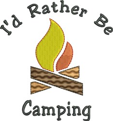 Rather Be Camping embroidery design