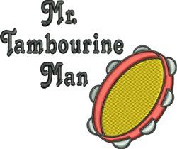 Mr. Tambourine Man embroidery design