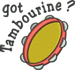 Got Tambourine? embroidery design
