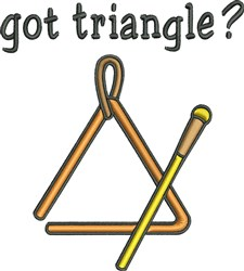 Got Triangle Instrument embroidery design