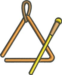 Triangle Instrument embroidery design