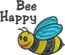 Bee Happy embroidery design