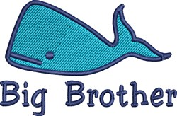 Brother Whale embroidery design