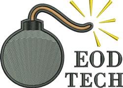 EOD Tech embroidery design