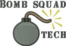 Bomb Squad Tech embroidery design