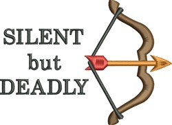 Silent but Deadly embroidery design