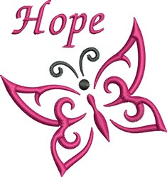 Butterfly Hope embroidery design