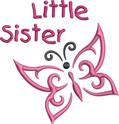 Little Sister Butterfly embroidery design