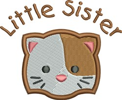 Little Sister Cat embroidery design