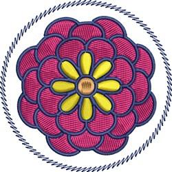 Chrysanthemum Flower embroidery design