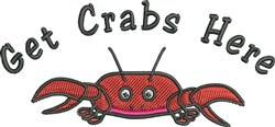 Get Crabs embroidery design