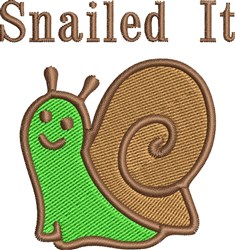 Snailed It embroidery design