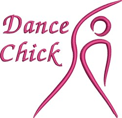 Dancer Chick embroidery design