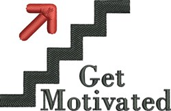 Get Motivated embroidery design