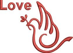 Dove of Love embroidery design