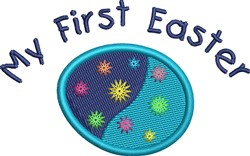 First Easter Egg embroidery design