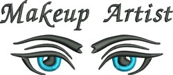 Makeup Artist Eye embroidery design