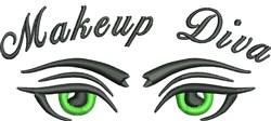 Makeup Diva Eyes embroidery design