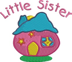 Little Sister House embroidery design