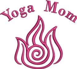 Yoga Mom Fire embroidery design