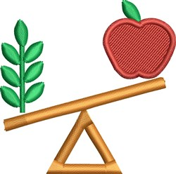 Food Balance embroidery design